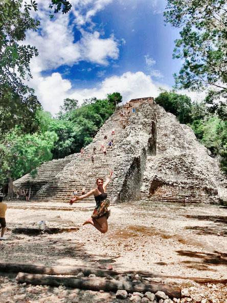 Maya Ruinen in Coba, Mexiko