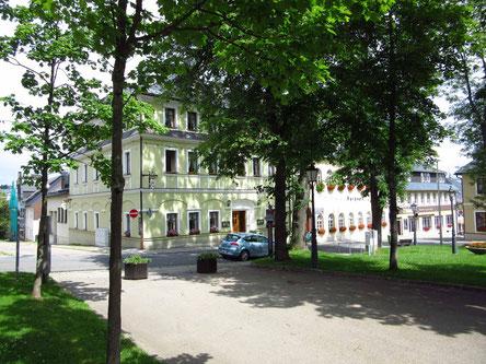 Auf dem Marktplatz von Oberwiesenthal