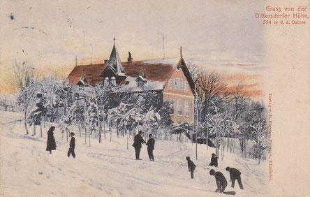 Wintersport auf der Dittersdorfer Höhe