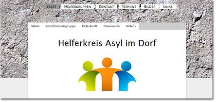 Informatiosseite von Asyl im Dorf | © Serverseite.de