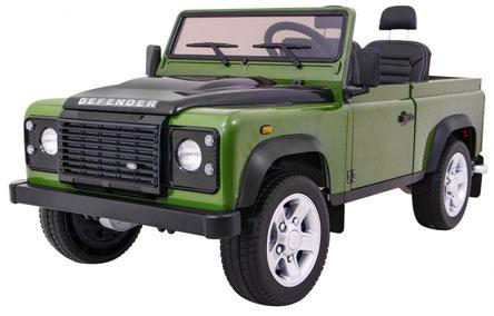 Land Rover/Defender/Allrad/2 Sitzer/Kinderauto/Kinder Elektroauto/Kinder Auto/lizensiert/grün/