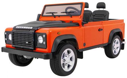 Land Rover/Defender/Allrad/2 Sitzer/Kinderauto/Kinder Elektroauto/Kinder Auto/lizensiert/orange/