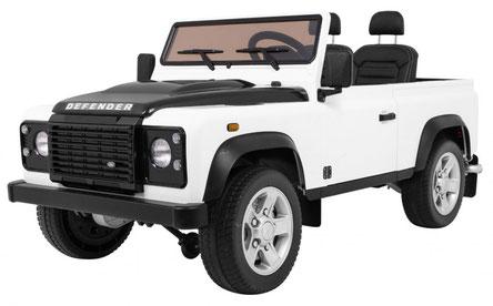 Land Rover/Defender/Allrad/2 Sitzer/Kinderauto/Kinder Elektroauto/Kinder Auto/lizensiert/weiß/