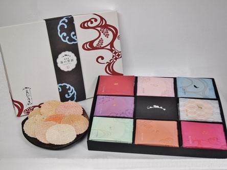 キヨタフーズの海の煎餅ギフトセットは、人気のえびせんべいギフトセットです。
