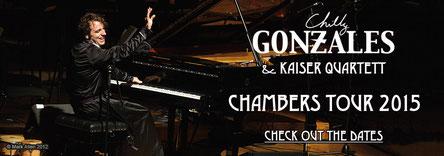 chambers tour 2015 London