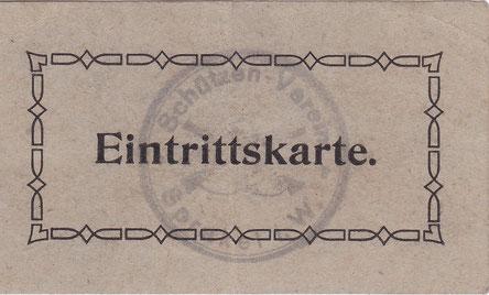 Schlichte Eintrittskarte Schützenverein Sprakel