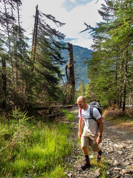 An den steilen Stellen im Wald konnten wir kein Foto machen, da sahen wir zu fertig aus ;-)