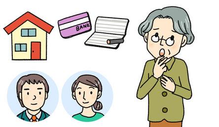 通帳・カードの管理など金銭・財産管理、任意後見人