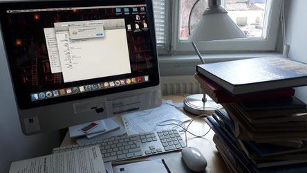 Arbeit in der Bibliothek des Newmaninstitus