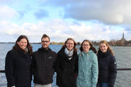Sophie, Patrick, Lara, Hanne und Klara zu Besuch in Vadstena