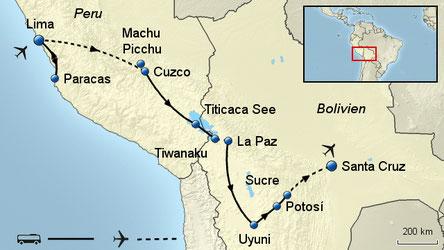 Südamerika Rundreisen 2018 Höhepunkte von Peru und Bolivien Gruppenreise mit Flug