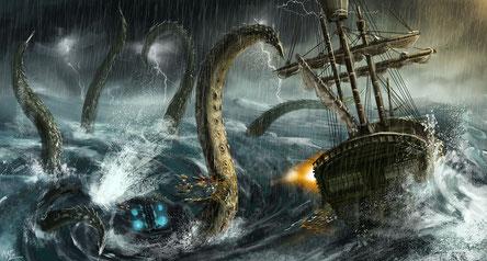 """""""Kraken"""" par Eiich Matsuba (https://www.artstation.com/artwork/xd8bm)"""
