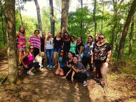 Hiking als Gruppe