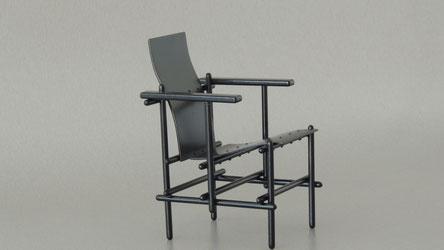Stick chair, Miniaturstuhl, Miniatur mit runder Sitzfläche