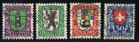 J 33 - 36  Mi.Nr.: 214 - 217