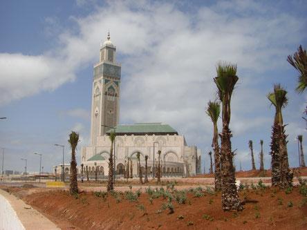 La Corniche en cours d'aménagement au niveau de la mosquée Hassan II. Photo : Quentin Nam