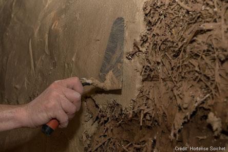 enduits isolant terre murs fibres paille lin artisan