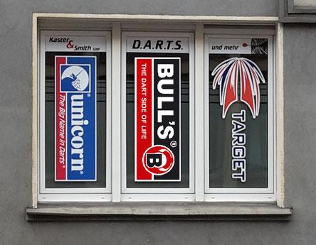 Die Marken Bulls, Target, Unicorn und XQ-Darts sind bei uns gut vertreten
