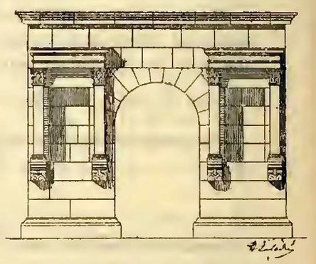 Haïdra (Ammaedara) : Restitution du petit arc de la rive droite
