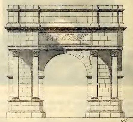 Haïdra (Ammaedara) : Restitution de l'arc de triomphe de Septime Sévère