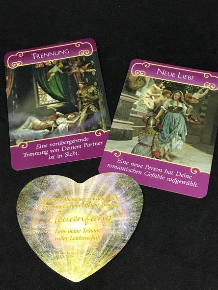 Das Engel der Liebe Orakel von Doreen Virtue  und Amors Botschaften von Toni Carmen Salerno auf Phönixzauber kostenlose Tagesbotschaft
