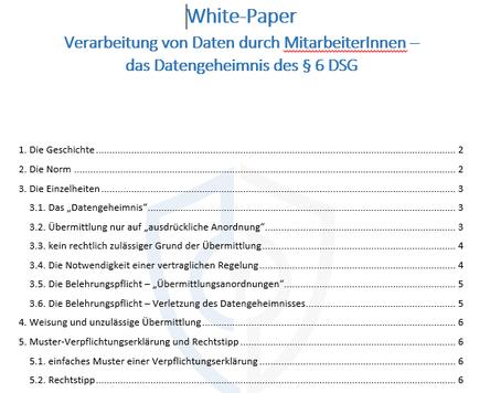 datengeheimnis verarbeitung von personenbezogenen daten durch mitarbeiterinnen - Verpflichtungserklarung Muster