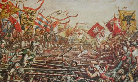 Schlacht von Sempach, nach Karl Jauslin 1889; Wiki Commons