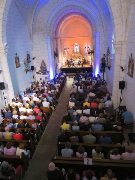 Quatuor Ébène au concert 'Les Chaises Musicales' Église St Leger © François Bigot