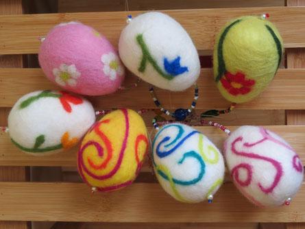 v.li.: Tulpenzeit, Daisy, Glöckchen, Blütenspiel, Wirbelwind rosa, blau und gelb