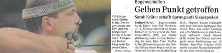 Bogensport-Artikel: Neujahrsschiessen in Lindenberg