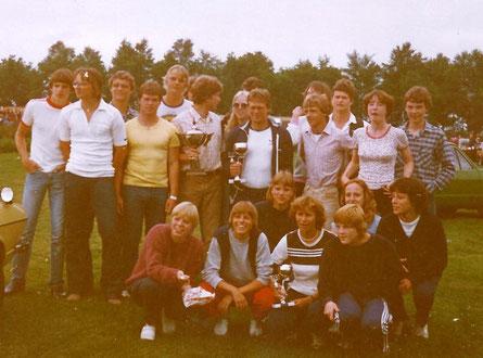 Teilnehmer beim Pfingst-Turnier in Musselkanaal 1981