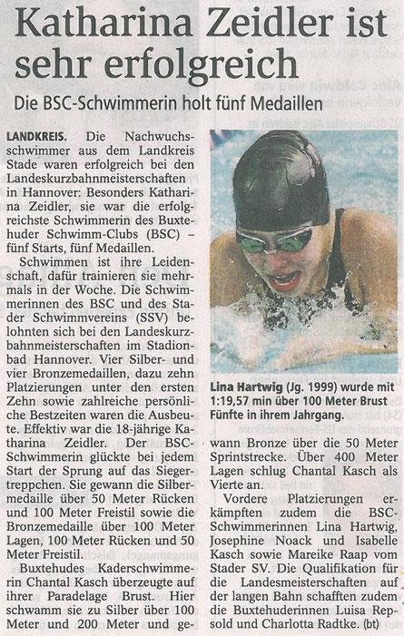 Buxtehuder Tageblatt vom 14.11.2013
