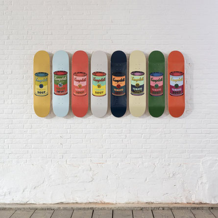 Campbell soup wahrol skateroom reims