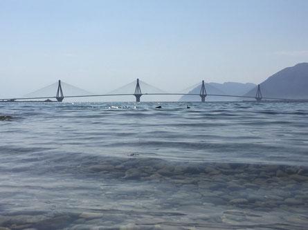 Brücke die Nord- mit Südgriechenland verbindet bei Patras