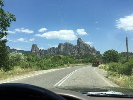 Meteora in Sicht