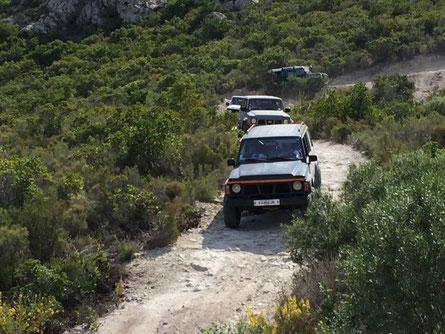 Uf der Rückfahrt vom Paradisu d Offroad-Taxis