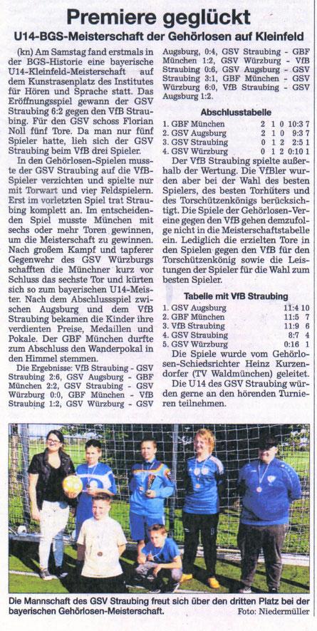 Quelle: Straubinger Tagblatt 20.09.2018
