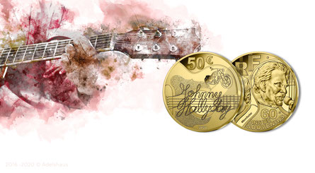 Gedenkmünzen  Euro Gold Frankreich Monnaie de Paris 2020 Goldmünzen Sammlermünzen Gold kaufen Johnny Hallyday