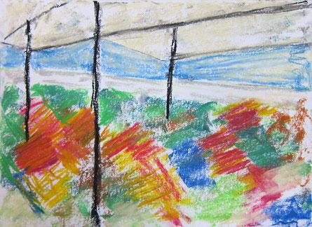 Januar 2016 Bea »Garten« Pastell 15,3 x 21 cm