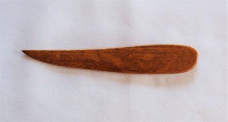 ナラ材のペーパーナイフ 和刀デザインB