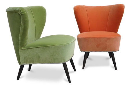 Tappezzeria optical per divano anni '50