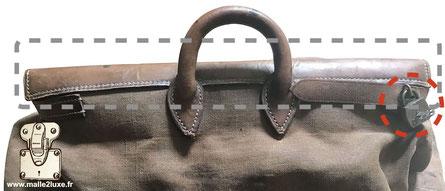 Arriere - sac Steamer bag Louis Vuitton premiere generation