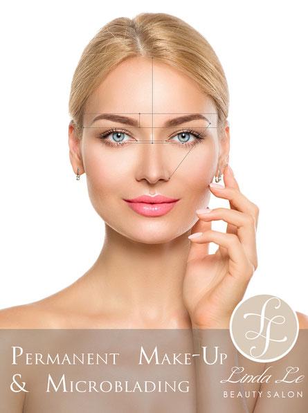 Natürliches, nicht maskenhaftes Permanent Make-up für alle Lebensituationen - Schön gepflegt aussehen rund um die Uhr - Lachende Glückliche Frau