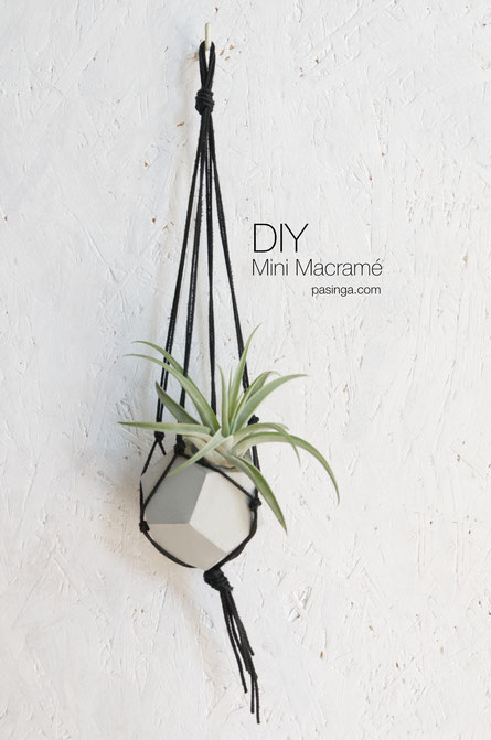 How to make a Mini DIY Macramé plant hanger