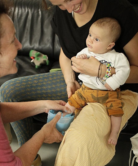 Babyfuß Abdruck, Gipsabdruck, Alginat