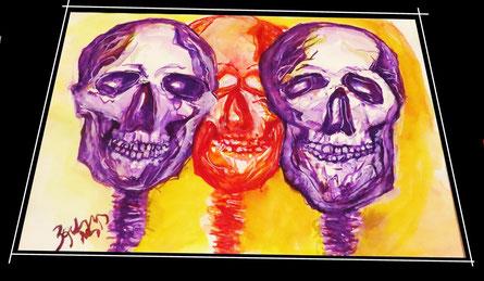 schadel skull wibac 2013 20 x 30cm