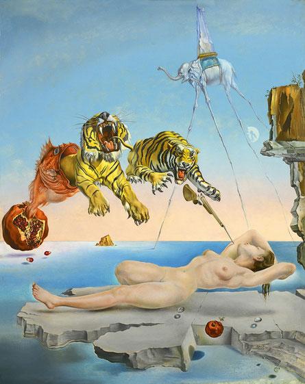 Самые известные картины в мире - Сон, вызванный полетом пчелы вокруг граната - Сальвадор Дали
