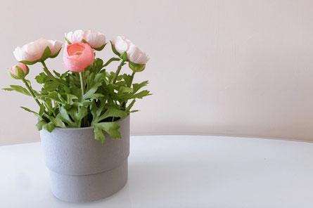 バラとカスミソウのブーケ。シールで封がされたレター。