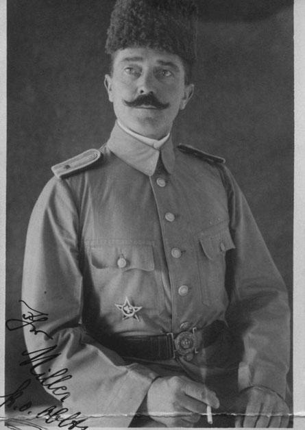 kgl. osmanischer Oberleutnant (entspricht einem deutschen Leutnant) mit dem Eisernen Halbmond. Danke an T.