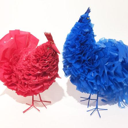 Ornamenti da giardino colorati